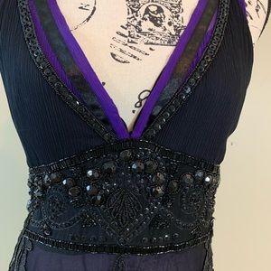 Alexander McQueen Silk Beaded Evening Dress-Italy
